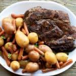 roast and potatoes