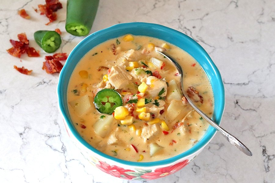 jalapeno chicken and corn chowder