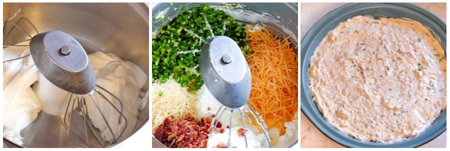 adding dip ingredients