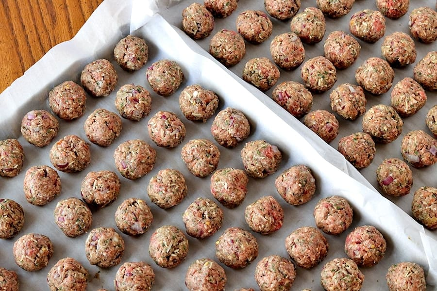 meatballs rolled