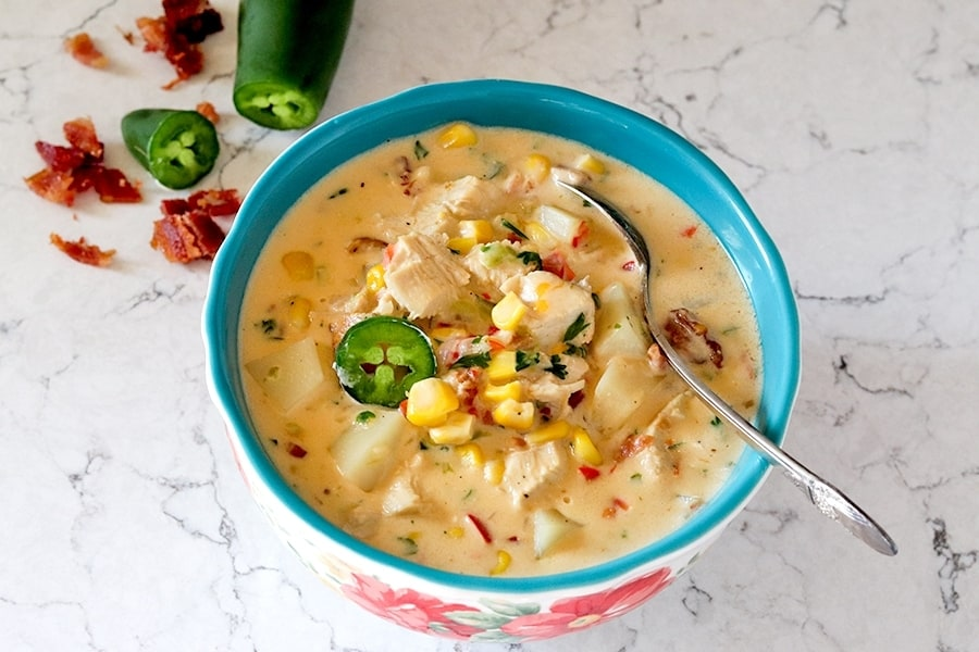 jalapeno chicken and corn chowder