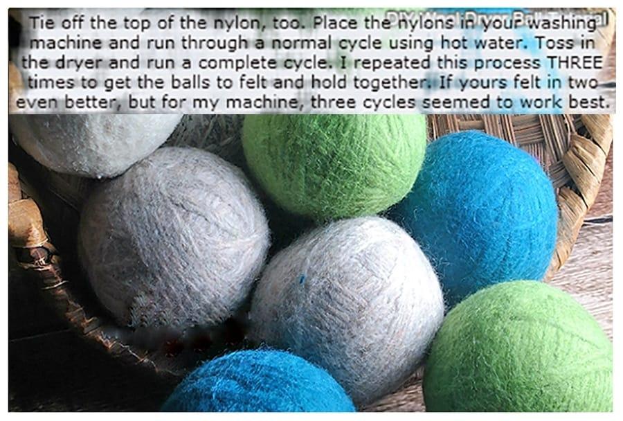 wool dryer balls tutorial