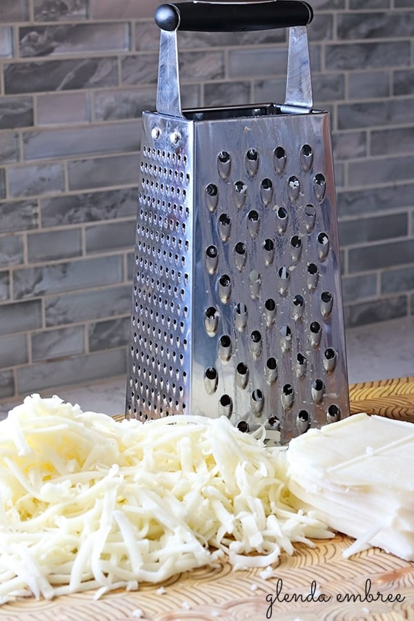 cheese grater and mozzarella
