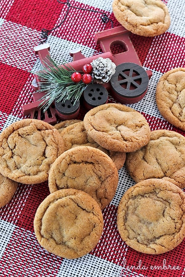 soft chewy ginger cookies