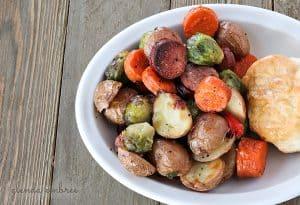 sheet pan sausage and roasted veggies