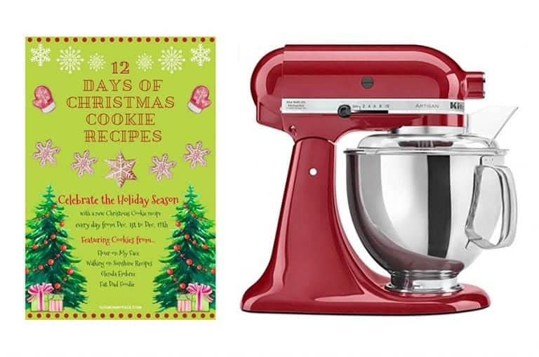 12 days of Christmas Cookies kitchenaid mixer giveaway