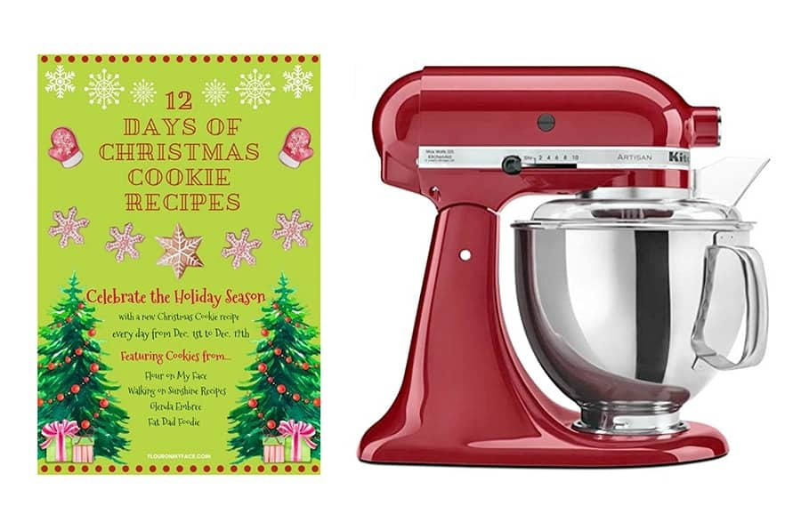 12 days of Christmas Cookies kitchenaid mixer giveaway