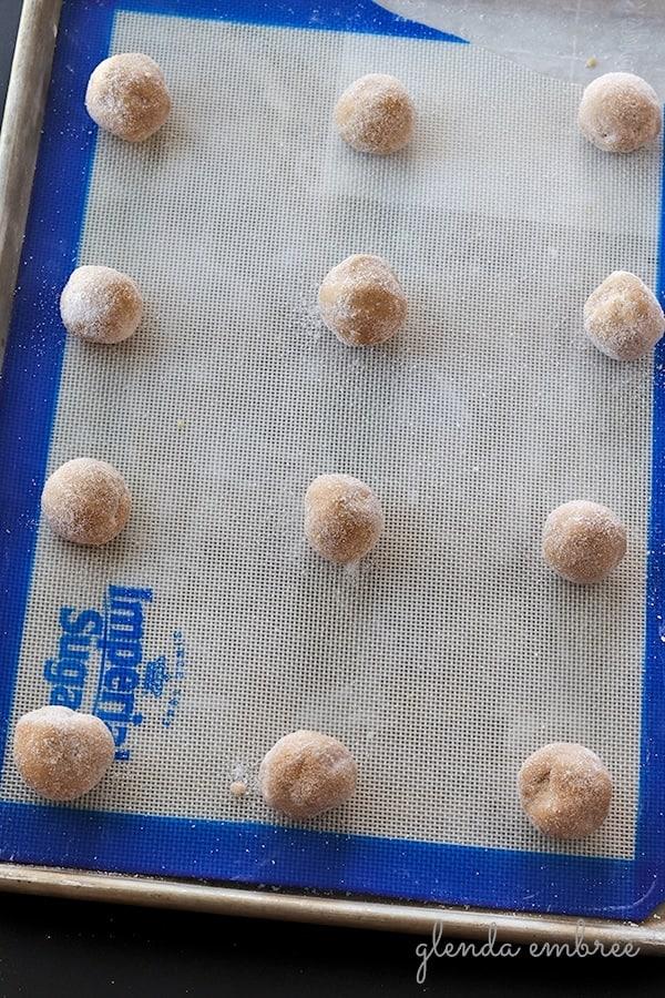 ginger cookie dough balls