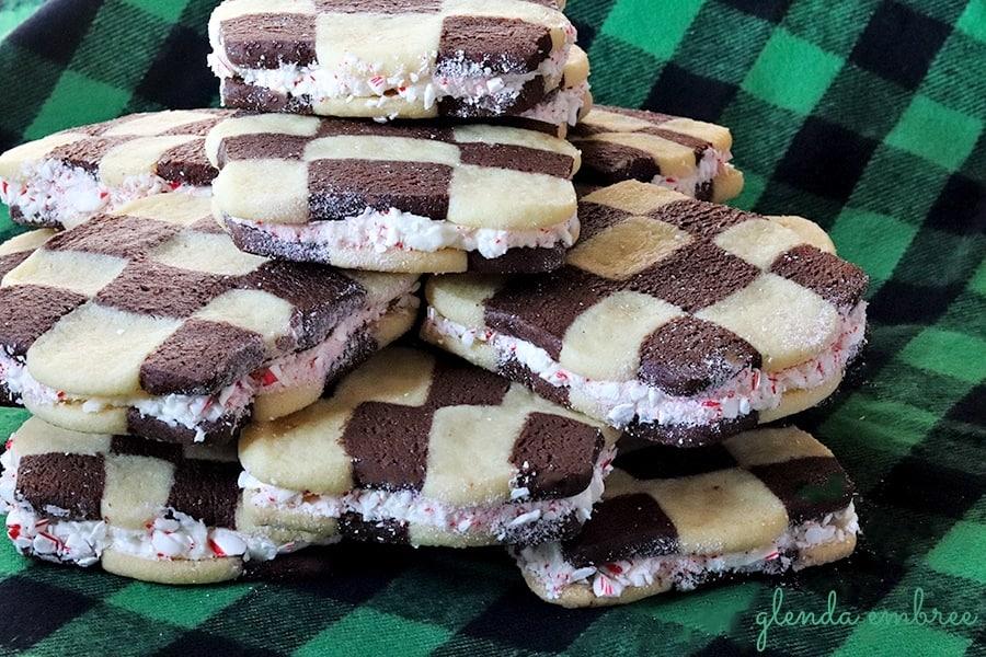Checkerboard Sandwich Cookies