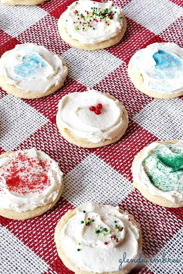 frosted drop sugar cookies