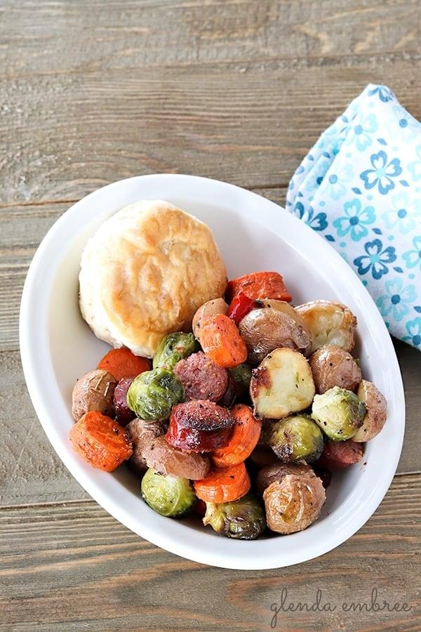 sheet pan sausage and roasted potatoes
