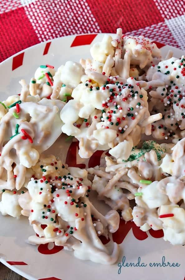 white chocolate no-bake cookies