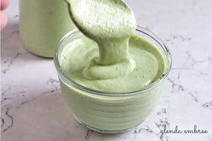 homemade avocado ranch dressing
