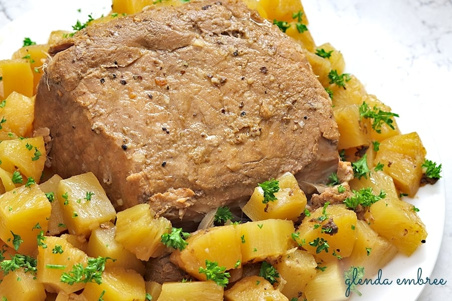 Pineapple Balsamic Pork Loin