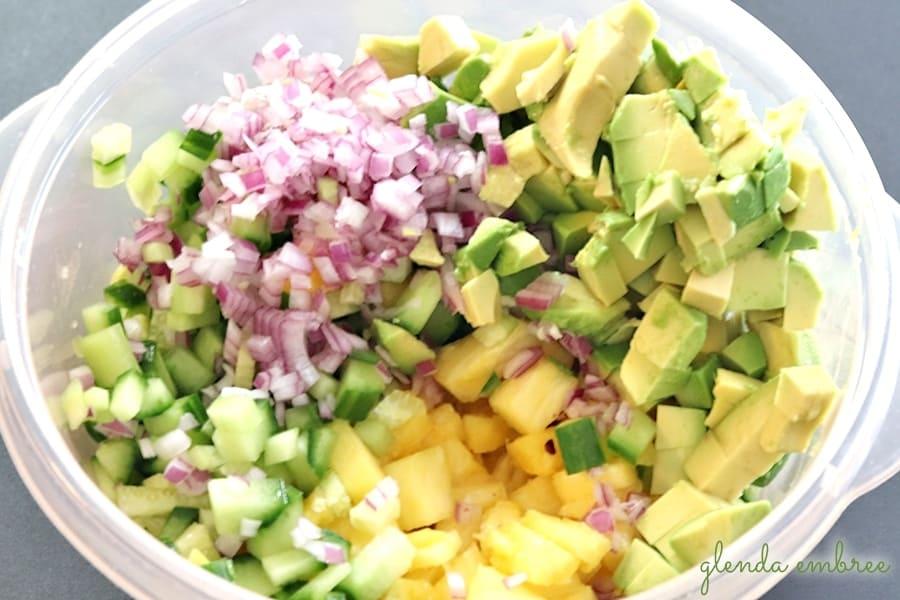 Pineapple Avocado Salsa ingredients