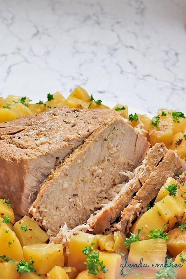 Pineapple Balsamic Pork Loin crock pot