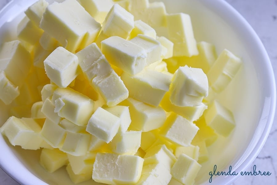 butter cubed - homemade apple