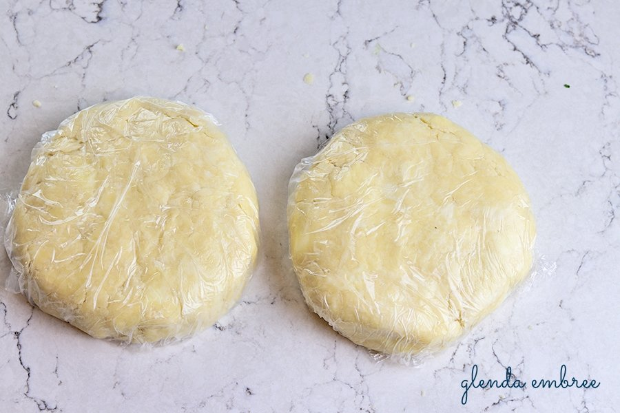 discs of pie dough