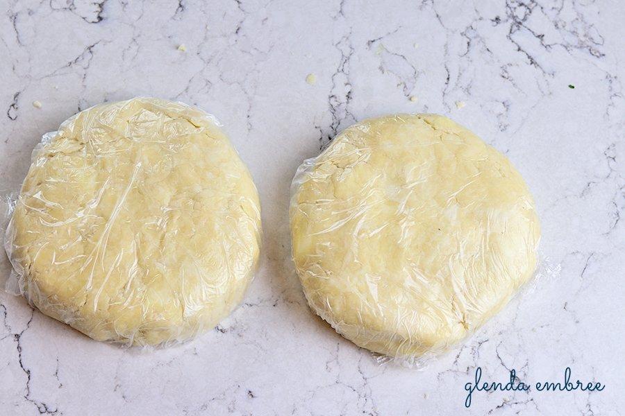 discs of pie dough