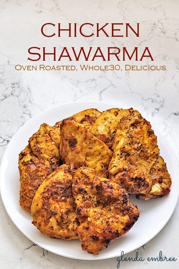 homemade chicken shawarma oven roasted