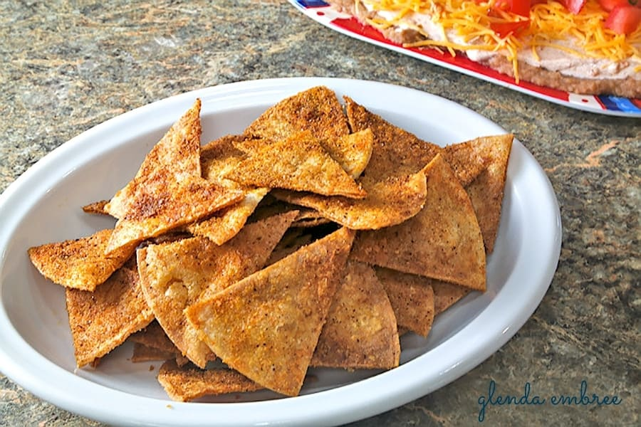 Homemade Taco Chips made with Homemade Taco Seasoning