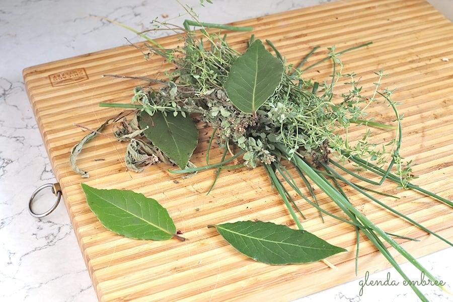 herbs for best homemade vegetable stock