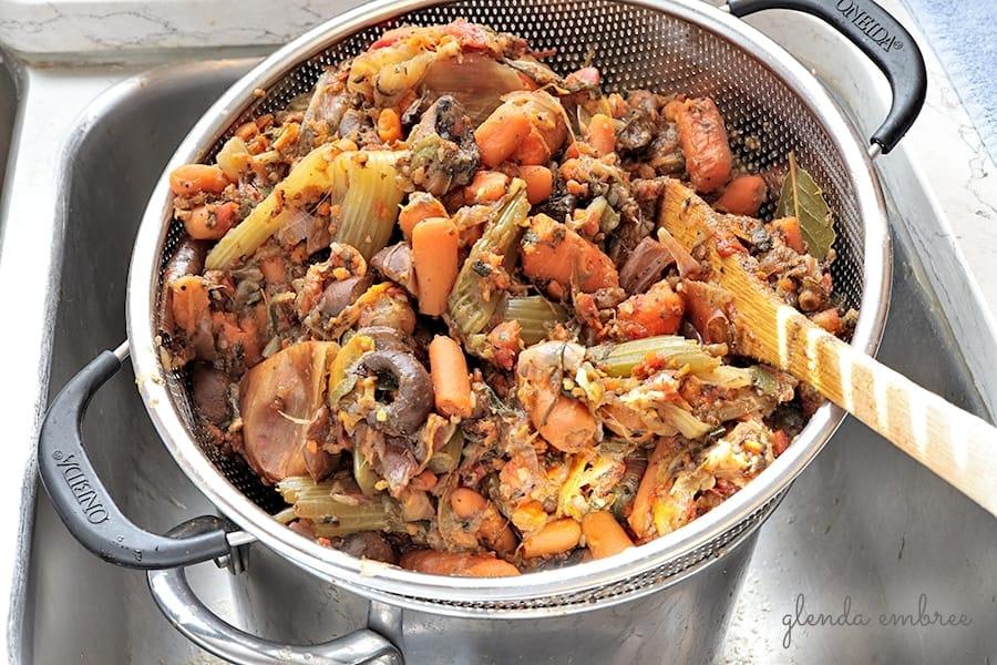 straining best homemade vegetable stock