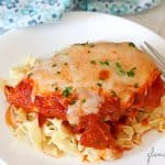 easy chicken parmesan with homemade pasta