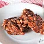 easy-no-bake cookies served on a small plate