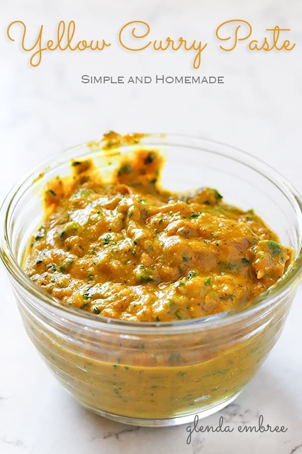 homemade yellow curry paste