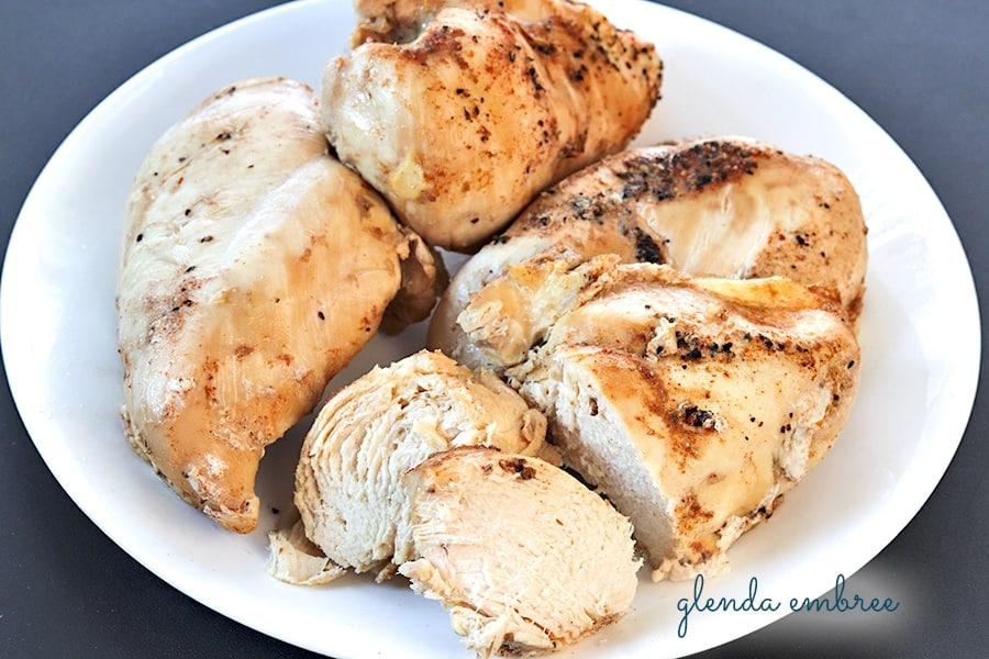chicken breasts cooked in the Instant Pot