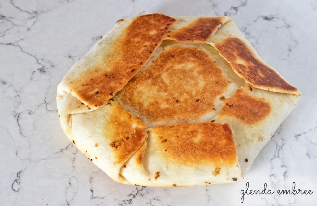 How to Assemble a Crunch Wrap: Fry/Grill until golden brown.